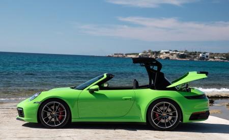 2020 Porsche 911 Carrera S Cabriolet (Color: Lizard Green) Side Wallpaper 450x275 (26)