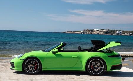 2020 Porsche 911 Carrera S Cabriolet (Color: Lizard Green) Side Wallpaper 450x275 (27)