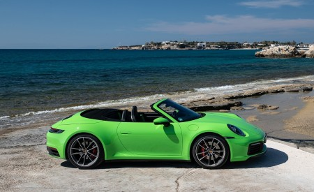 2020 Porsche 911 Carrera S Cabriolet (Color: Lizard Green) Side Wallpaper 450x275 (32)