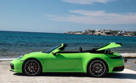 2020 Porsche 911 Carrera S Cabriolet (Color: Lizard Green) Side Wallpaper 450x275 (28)