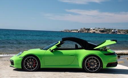 2020 Porsche 911 Carrera S Cabriolet (Color: Lizard Green) Side Wallpaper 450x275 (29)