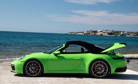 2020 Porsche 911 Carrera S Cabriolet (Color: Lizard Green) Side Wallpaper 450x275 (30)