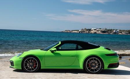 2020 Porsche 911 Carrera S Cabriolet (Color: Lizard Green) Side Wallpaper 450x275 (31)