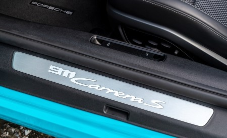2020 Porsche 911 Carrera S Cabriolet (Color: Miami Blue) Door Sill Wallpaper 450x275 (107)