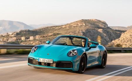 2020 Porsche 911 Carrera S Cabriolet (Color: Miami Blue) Front Wallpaper 450x275 (82)