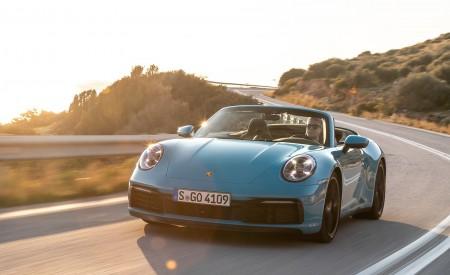 2020 Porsche 911 Carrera S Cabriolet (Color: Miami Blue) Front Wallpaper 450x275 (83)