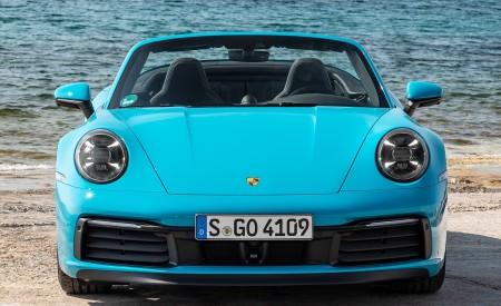 2020 Porsche 911 Carrera S Cabriolet (Color: Miami Blue) Front Wallpaper 450x275 (94)