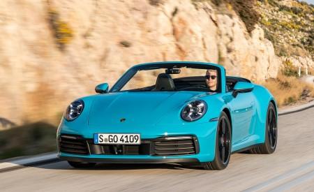 2020 Porsche 911 Carrera S Cabriolet (Color: Miami Blue) Front Wallpaper 450x275 (85)