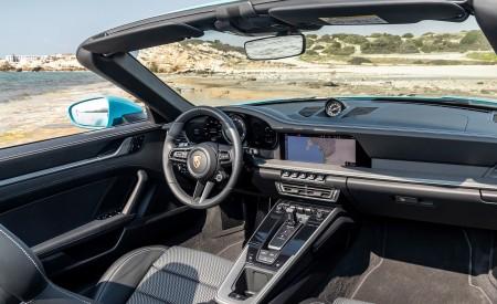 2020 Porsche 911 Carrera S Cabriolet (Color: Miami Blue) Interior Wallpaper 450x275 (108)
