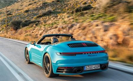 2020 Porsche 911 Carrera S Cabriolet (Color: Miami Blue) Rear Three-Quarter Wallpaper 450x275 (89)