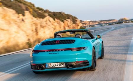 2020 Porsche 911 Carrera S Cabriolet (Color: Miami Blue) Rear Wallpaper 450x275 (90)