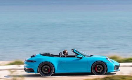 2020 Porsche 911 Carrera S Cabriolet (Color: Miami Blue) Side Wallpaper 450x275 (91)
