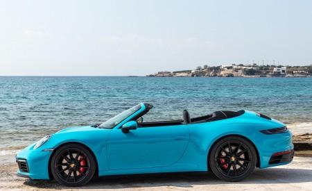 2020 Porsche 911 Carrera S Cabriolet (Color: Miami Blue) Side Wallpaper 450x275 (98)