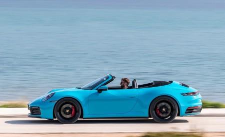 2020 Porsche 911 Carrera S Cabriolet (Color: Miami Blue) Side Wallpaper 450x275 (92)