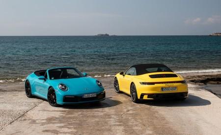 2020 Porsche 911 Carrera S Cabriolet (Color: Miami Blue) Wallpaper 450x275 (116)