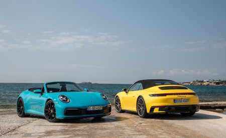 2020 Porsche 911 Carrera S Cabriolet (Color: Miami Blue) Wallpaper 450x275 (115)