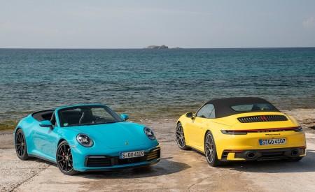 2020 Porsche 911 Carrera S Cabriolet (Color: Miami Blue) Wallpaper 450x275 (117)