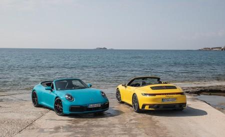 2020 Porsche 911 Carrera S Cabriolet (Color: Miami Blue) Wallpaper 450x275 (113)