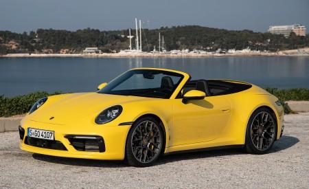 2020 Porsche 911 Carrera S Cabriolet (Color: Racing Yellow) Front Three-Quarter Wallpaper 450x275 (150)