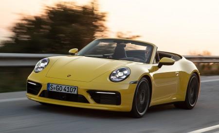 2020 Porsche 911 Carrera S Cabriolet (Color: Racing Yellow) Front Three-Quarter Wallpaper 450x275 (128)