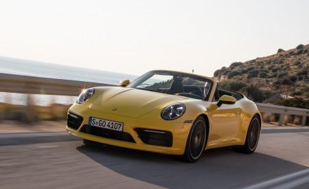 2020 Porsche 911 Carrera S Cabriolet (Color: Racing Yellow) Front Three-Quarter Wallpaper 450x275 (129)