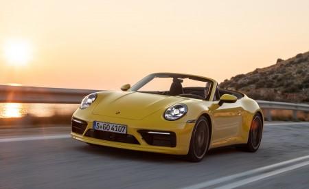 2020 Porsche 911 Carrera S Cabriolet (Color: Racing Yellow) Front Three-Quarter Wallpaper 450x275 (119)
