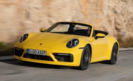 2020 Porsche 911 Carrera S Cabriolet (Color: Racing Yellow) Front Three-Quarter Wallpaper 450x275 (139)