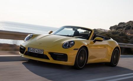 2020 Porsche 911 Carrera S Cabriolet (Color: Racing Yellow) Front Three-Quarter Wallpaper 450x275 (130)