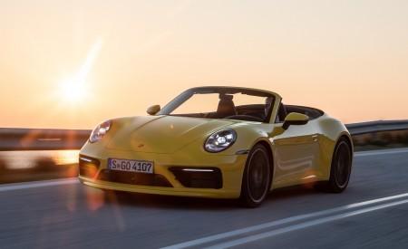 2020 Porsche 911 Carrera S Cabriolet (Color: Racing Yellow) Front Three-Quarter Wallpaper 450x275 (120)