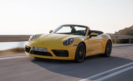 2020 Porsche 911 Carrera S Cabriolet (Color: Racing Yellow) Front Three-Quarter Wallpaper 450x275 (132)