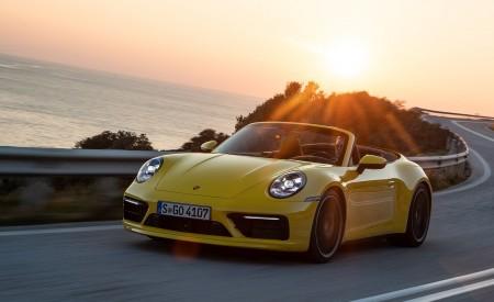 2020 Porsche 911 Carrera S Cabriolet (Color: Racing Yellow) Front Three-Quarter Wallpaper 450x275 (122)