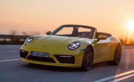 2020 Porsche 911 Carrera S Cabriolet (Color: Racing Yellow) Front Three-Quarter Wallpaper 450x275 (133)