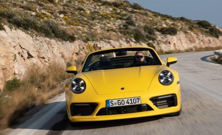 2020 Porsche 911 Carrera S Cabriolet (Color: Racing Yellow) Front Wallpaper 450x275 (141)