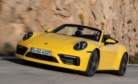 2020 Porsche 911 Carrera S Cabriolet (Color: Racing Yellow) Front Wallpaper 450x275 (142)