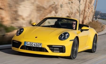 2020 Porsche 911 Carrera S Cabriolet (Color: Racing Yellow) Front Wallpaper 450x275 (143)