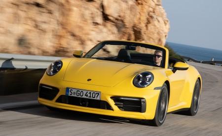 2020 Porsche 911 Carrera S Cabriolet (Color: Racing Yellow) Front Wallpaper 450x275 (144)
