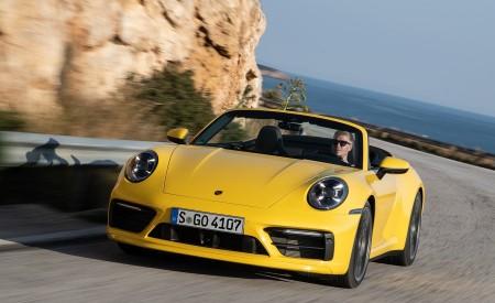 2020 Porsche 911 Carrera S Cabriolet (Color: Racing Yellow) Front Wallpaper 450x275 (145)