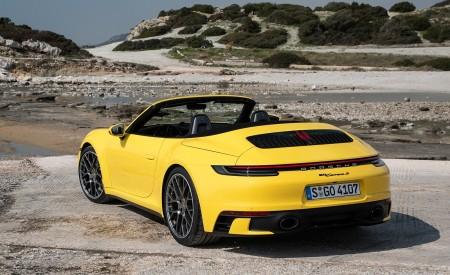 2020 Porsche 911 Carrera S Cabriolet (Color: Racing Yellow) Rear Three-Quarter Wallpaper 450x275 (156)