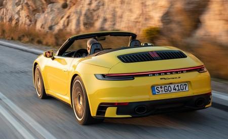 2020 Porsche 911 Carrera S Cabriolet (Color: Racing Yellow) Rear Three-Quarter Wallpaper 450x275 (147)