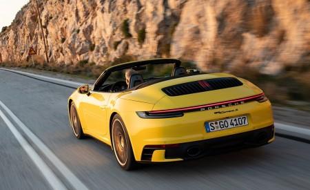 2020 Porsche 911 Carrera S Cabriolet (Color: Racing Yellow) Rear Three-Quarter Wallpaper 450x275 (148)