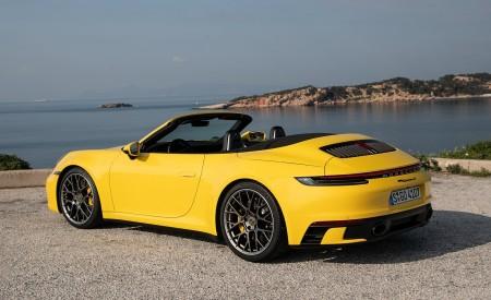 2020 Porsche 911 Carrera S Cabriolet (Color: Racing Yellow) Rear Three-Quarter Wallpaper 450x275 (157)