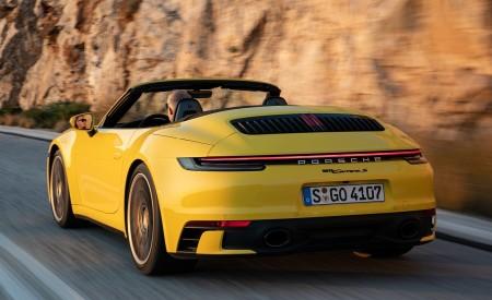2020 Porsche 911 Carrera S Cabriolet (Color: Racing Yellow) Rear Three-Quarter Wallpaper 450x275 (149)