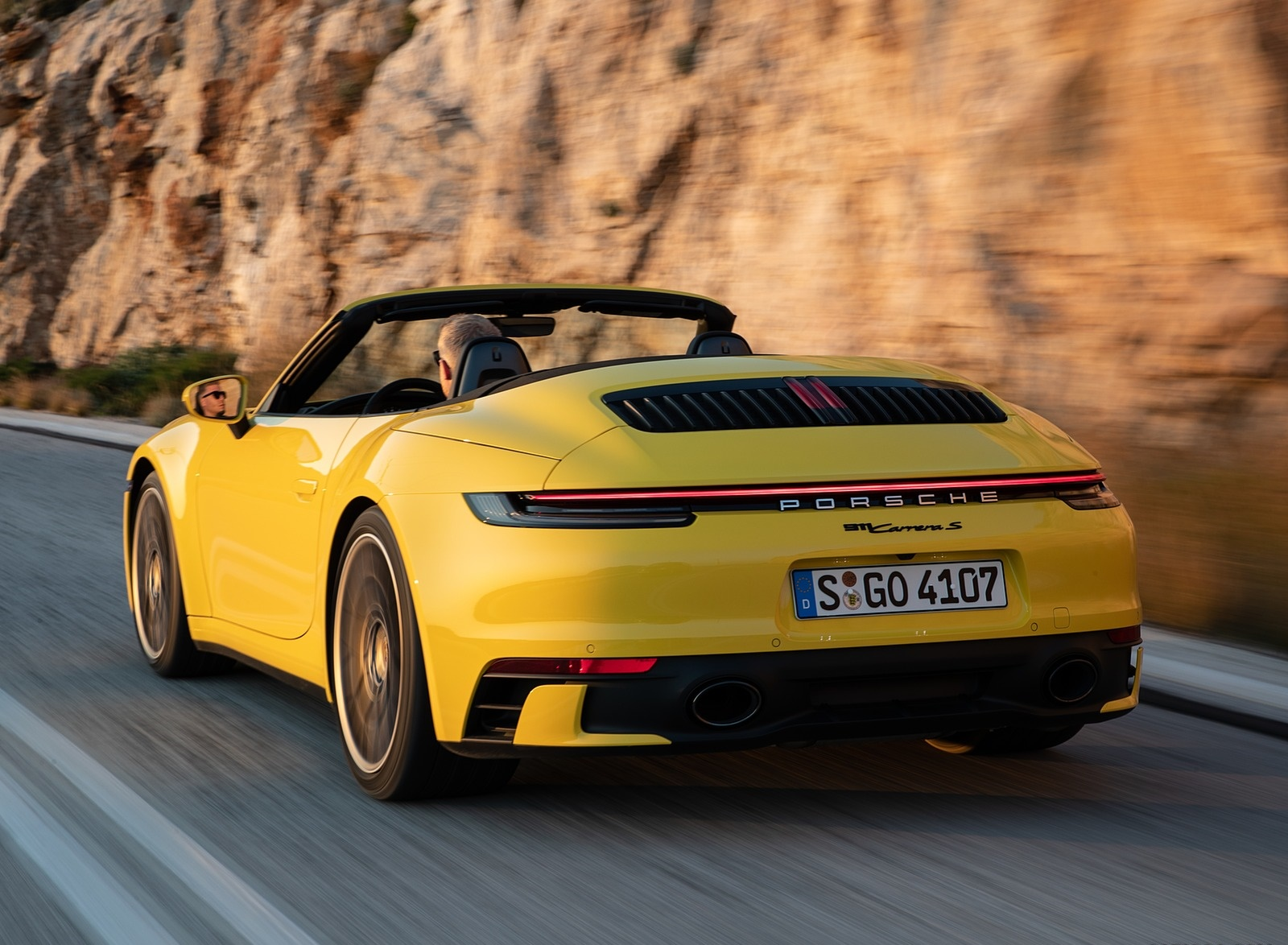 2020 Porsche 911 Carrera S Cabriolet Color Racing Yellow Rear Three Quarter Wallpapers 149 Newcarcars
