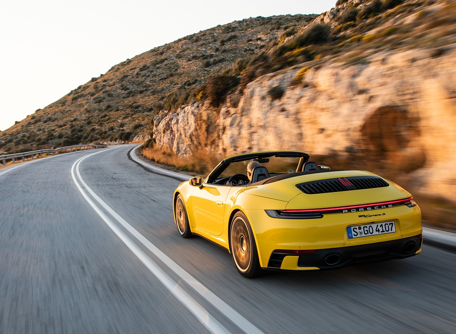 2020 Porsche 911 Carrera S Cabriolet Color Racing Yellow Rear Three Quarter Wallpapers 136 Newcarcars