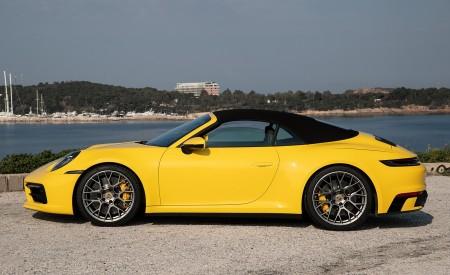 2020 Porsche 911 Carrera S Cabriolet (Color: Racing Yellow) Side Wallpaper 450x275 (161)