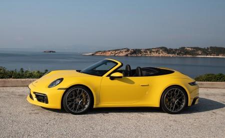 2020 Porsche 911 Carrera S Cabriolet (Color: Racing Yellow) Side Wallpaper 450x275 (162)