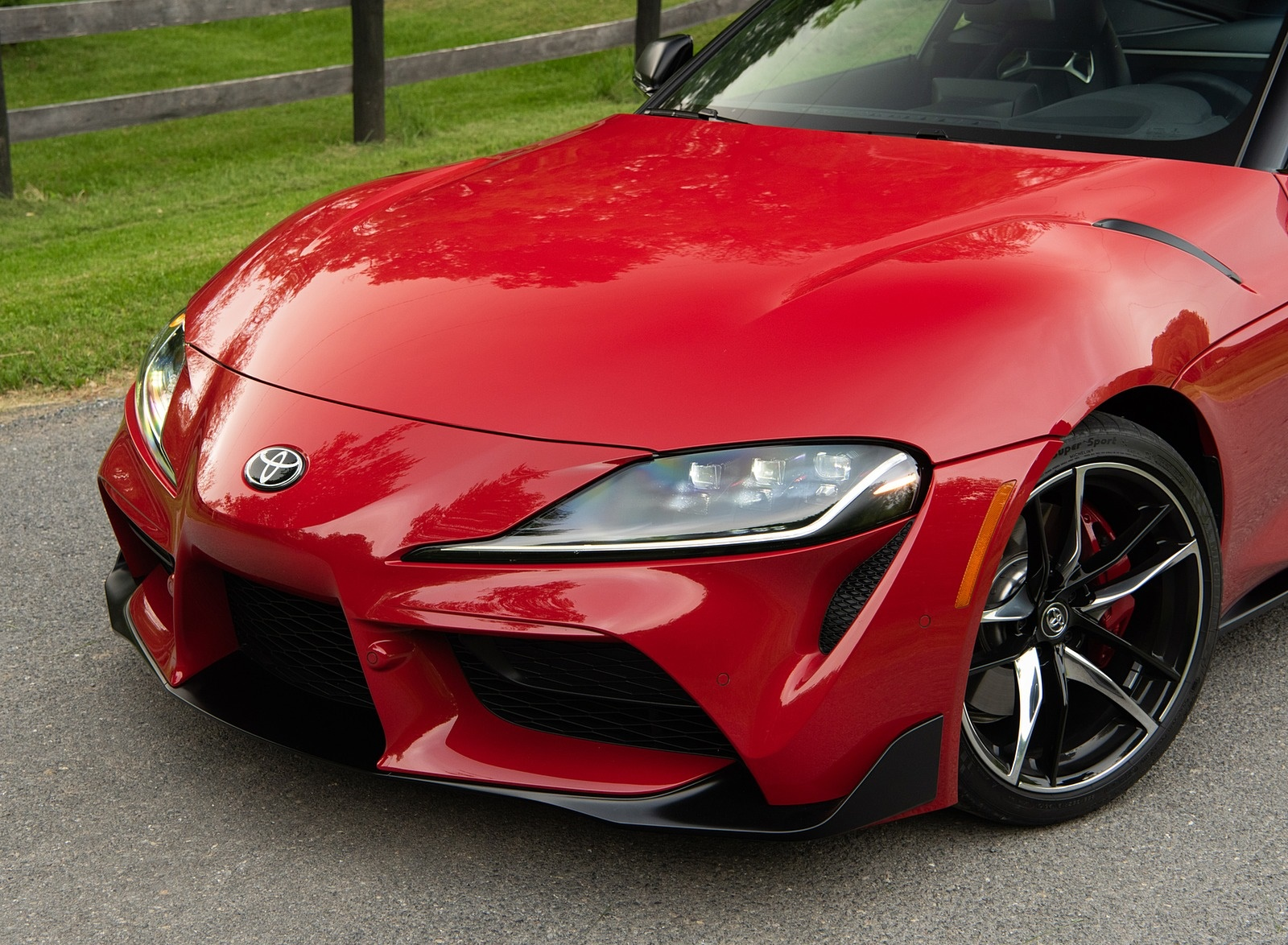 2020 Toyota Supra (Color: Renaissance Red) Detail Wallpapers (12)
