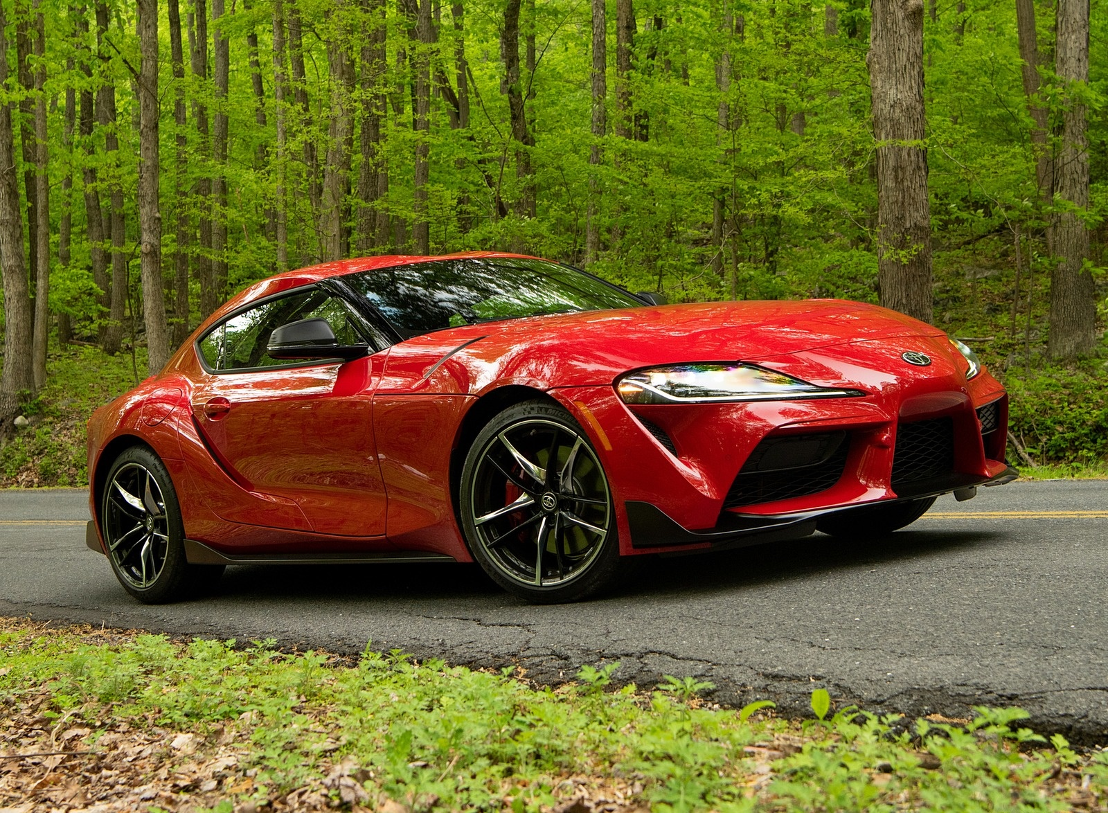 2020 Toyota Supra (Color: Renaissance Red) Front Three-Quarter Wallpapers (6)