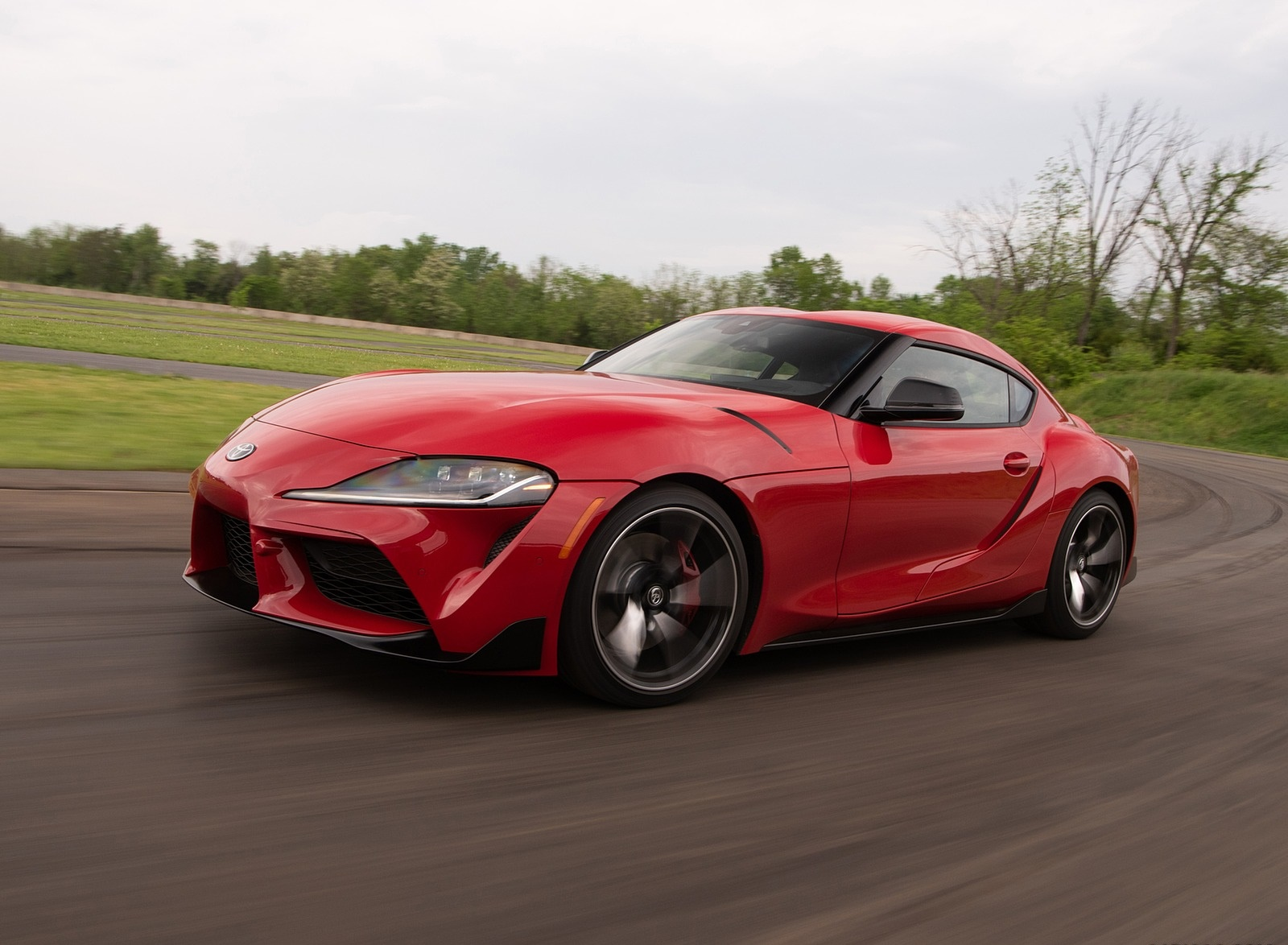 2020 Toyota Supra (Color: Renaissance Red) Front Three-Quarter Wallpapers (4)