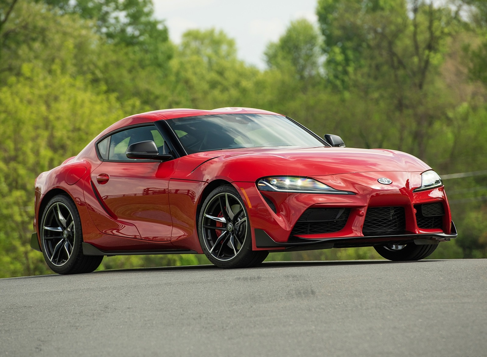 2020 Toyota Supra (Color: Renaissance Red) Front Three-Quarter Wallpapers (7)